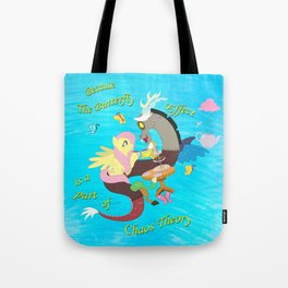 Chaos and Butterflies Tote Bag