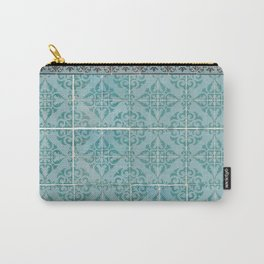 Victorian Turquoise Ceramic Tiles Carry-All Pouch