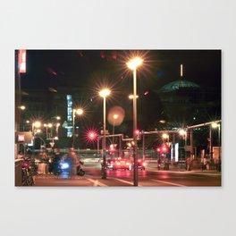 Ocean of Citylights Canvas Print