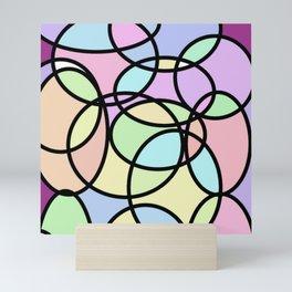circle of life geometric print design Mini Art Print