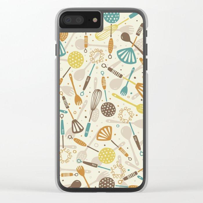 Kitchen Utensils Clear iPhone Case