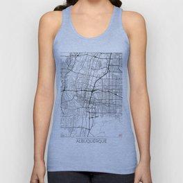 Albuquerque Map White Unisex Tank Top