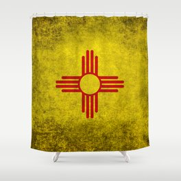 Flag of New Mexico - vintage retro style Shower Curtain