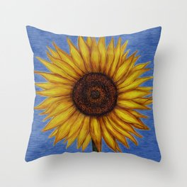 Sunflower by Lars Furtwaengler | Ink Pen | 2011 Throw Pillow