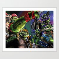 teenage mutant ninja turtles Art Prints featuring Teenage Mutant Ninja Turtles by artbywilliam