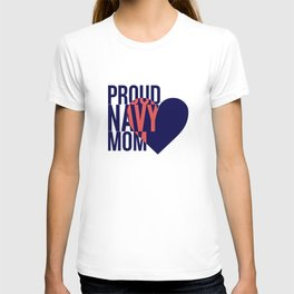 Proud Navy Mom T-shirt