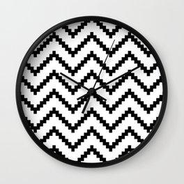 Tribal Chevron W&B Wall Clock