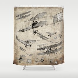 airplanes4 Shower Curtain