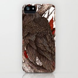 A Raven In Winter iPhone Case