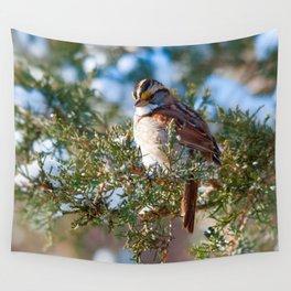 Sunlight Sparrow Wall Tapestry