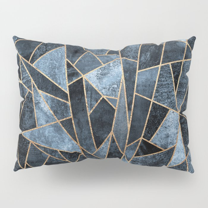 Shattered Soft Dark Blue Pillow Sham