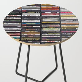 Old 80's & 90's Hip Hop Tapes Side Table