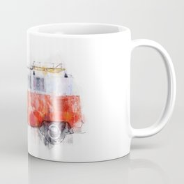 Camper Bus - retro camping van painting / illustration Coffee Mug