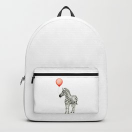 Baby Zebra with Red Balloon Backpack
