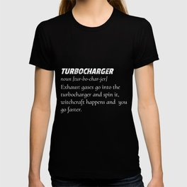 Turbocharger Definition print Racer Motorbikes Lovers T-shirt