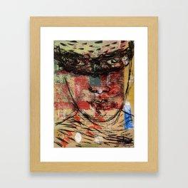 fighting the giant antaeus Framed Art Print