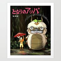 appa Art Prints featuring My Neighbor Appa by ToffeeChu