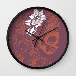 Death Becomes Hair Wall Clock