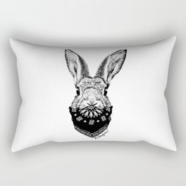 Animal Bandits - Bunny Rectangular Pillow