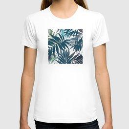 Shadow palm tree leaves T-shirt