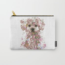 Vintage doggy Bichon frise.DISCOVER Carry-All Pouch