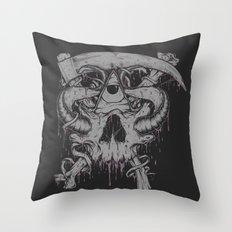 Sickle & Bone  Throw Pillow