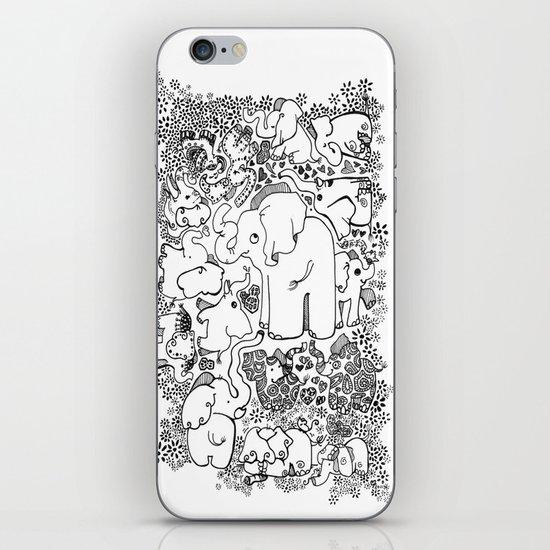 Little Elephants iPhone & iPod Skin