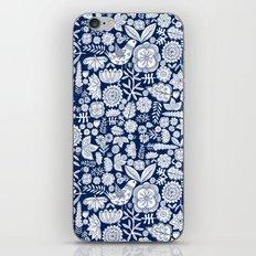 midnight blue garden party iPhone Skin
