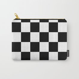 pattern checkerboard black white gift idea Carry-All Pouch