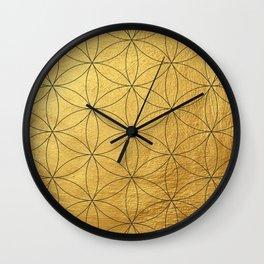 Golden Mosaic  Wall Clock
