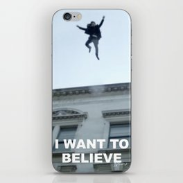 I Want to Believe in Sherlock Holmes iPhone Skin