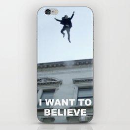 I Want to Believe in Sherlock Holmes iPhone Skin