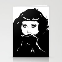 beth hoeckel Stationery Cards featuring Beth Ditto by Giorgia Ruggeri