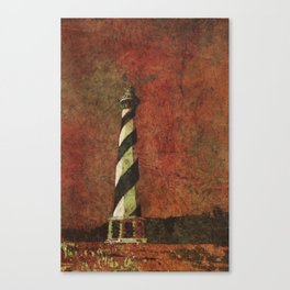Cape Hatteras lighthouse- Outer Banks, North Carolina.  Lighthouse painting OBX. Canvas Print