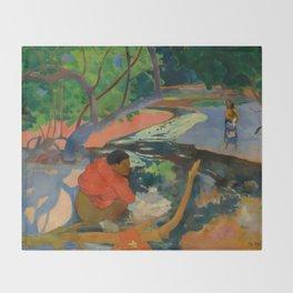 "Paul Gauguin ""Te Poipoi (Le matin - The morning)"" Throw Blanket"
