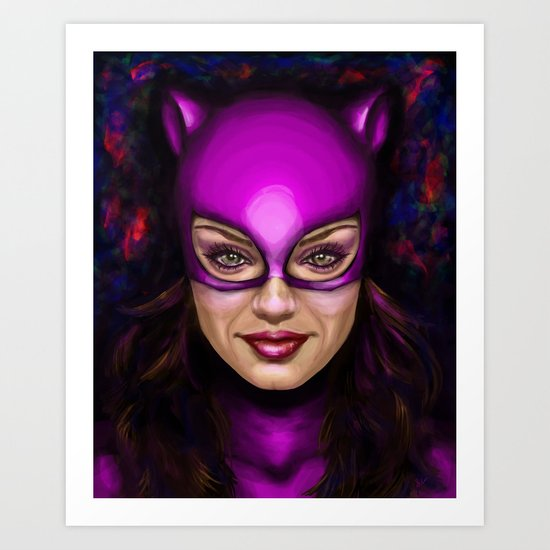 Cat of Kunis Art Print