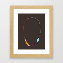 Neon Necklace Framed Art Print