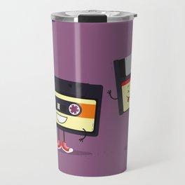 Floppy disk and cassette tape Travel Mug