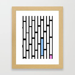 Geometric grid work Framed Art Print