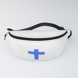 Christian Cross 9- blue Fanny Pack
