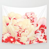 japanese Wall Tapestries featuring japanese peony by clemm