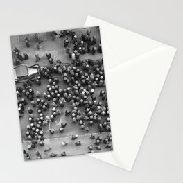 Hats In New York, classic black and white photograph Stationery Cards