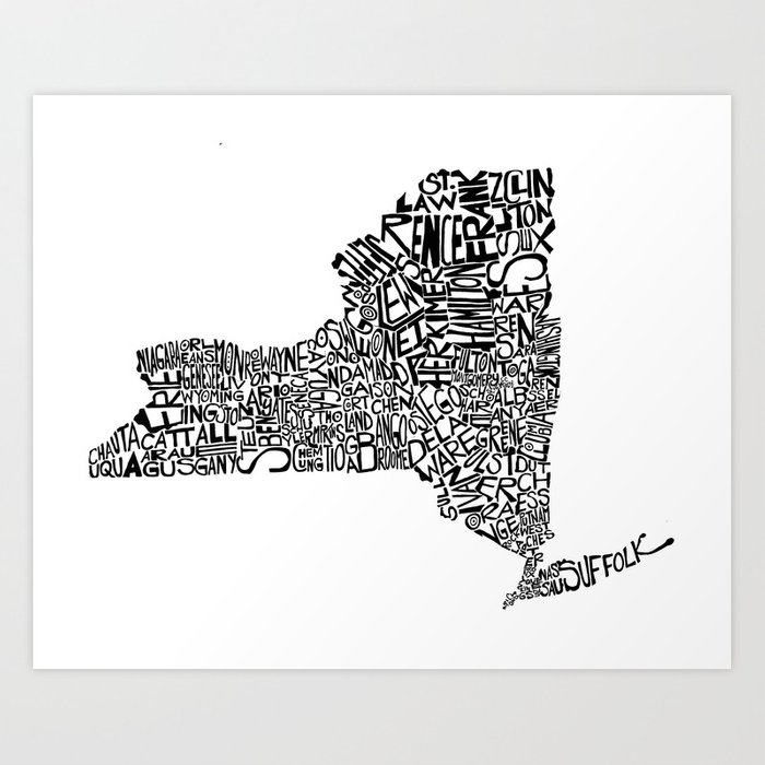 Typographic New York Art Print