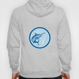 Blue Marlin Fish Jumping Circle Cartoon Hoody