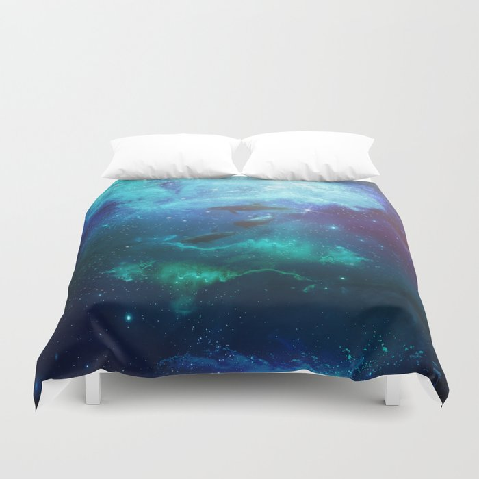 Mystic dolphins Duvet Cover