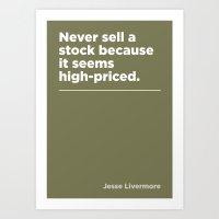 Never Sell Art Print
