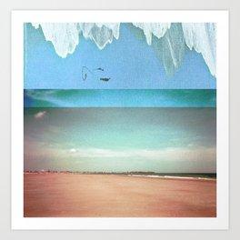 Peach Beach Art Print