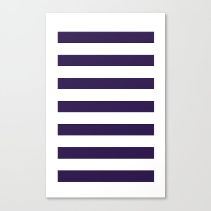dark purple stripes Canvas Print