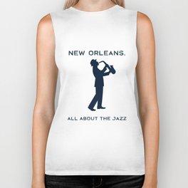 New Orleans Music Festival Jazz Saxophone Musician Design Biker Tank