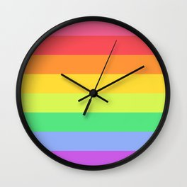 Love the Rainbows Wall Clock